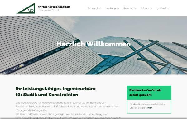 Vorschau von www.ib-dietrich.de, Dietrich, Michael