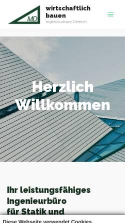Vorschau der mobilen Webseite www.ib-dietrich.de, Dietrich, Michael