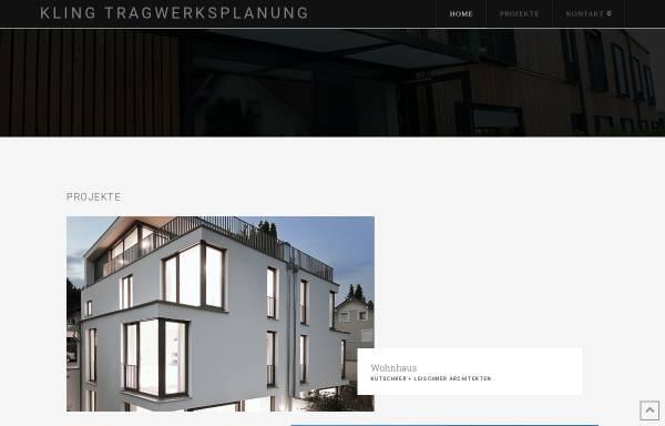 Vorschau von www.kling.net, Dipl.-Ing. W. Kling Ingenieurgesellschaft mbH