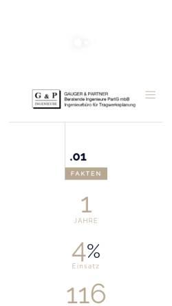 Vorschau der mobilen Webseite www.gauger-und-partner.de, Gauger und Partner