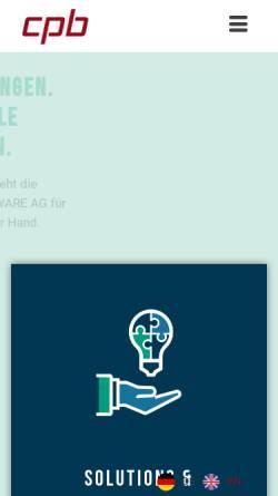 Vorschau der mobilen Webseite www.wmaccess.com, CPB Software GmbH
