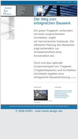 Vorschau der mobilen Webseite www.baustatik-ibh.de, Häussler, Stefan