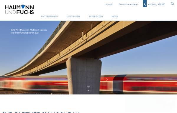 Vorschau von www.haumann-fuchs.de, Ingenieurgesellschaft Haumann+Fuchs mbH