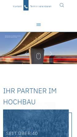 Vorschau der mobilen Webseite www.haumann-fuchs.de, Ingenieurgesellschaft Haumann+Fuchs mbH