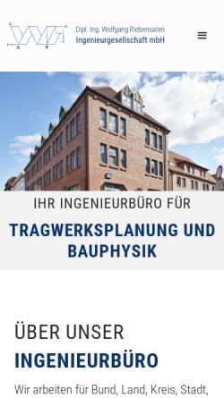 Vorschau der mobilen Webseite www.riebensahm-ratzeburg.de, Riebensahm, Wolfgang