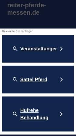 Vorschau der mobilen Webseite www.reiter-pferde-messen.de, Flüsti's Pferdemessen