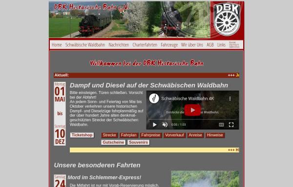 Vorschau von www.dbk-historische-bahn.de, DBK Historische Bahn e.V.