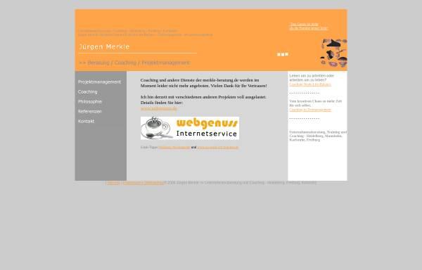 Vorschau von www.merkle-beratung.de, Jürgen Merkle - Beratung, Coaching, Projektmanagement