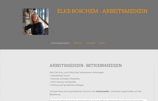 Vorschau von www.med-boschem.de, Elke Boschem, Fachärztin für Arbeitsmedizin