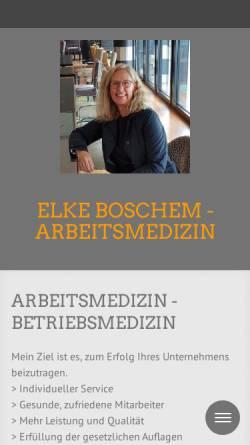 Vorschau der mobilen Webseite www.med-boschem.de, Elke Boschem, Fachärztin für Arbeitsmedizin