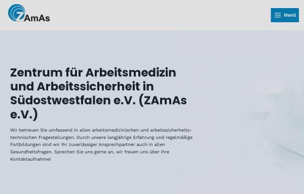 Vorschau von www.zamaspb.de, Zentrum für Arbeitsmedizin und Arbeitssicherheit in Südostwestfalen e.V.