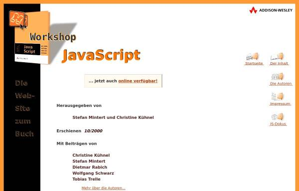 Vorschau von www.javascript-workshop.de, JavaScript Workshop