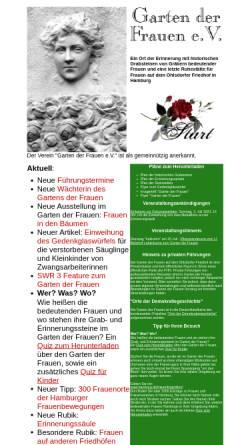Vorschau der mobilen Webseite www.garten-der-frauen.de, Garten der Frauen