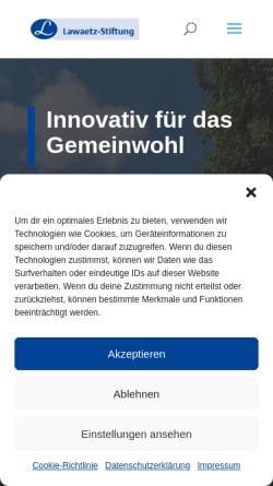Vorschau der mobilen Webseite www.lawaetz.de, Johann Daniel Lawaetz-Stiftung, Hamburg