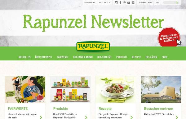 Vorschau von www.rapunzel.de, Rapunzel Naturkost AG