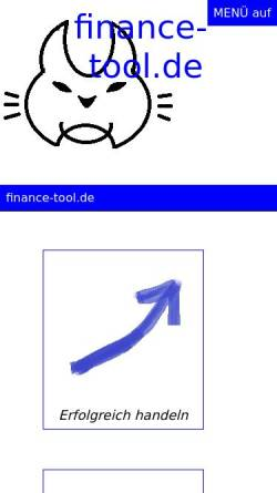 Vorschau der mobilen Webseite www.options-analysis.com, Finastic Projects - Dipl.-Math. Joachim Henle