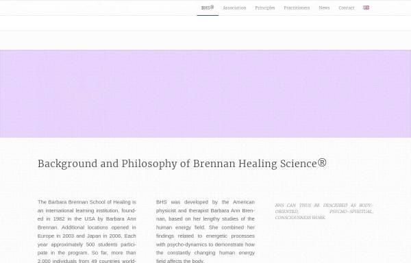 Vorschau von www.bhss.ch, BHSS - Brennan Healing Science Switzerland