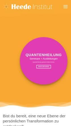 Vorschau der mobilen Webseite www.heede-institut.de, Heede-Institut