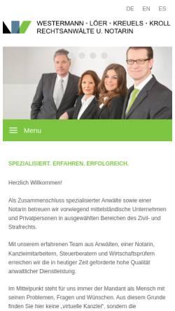 Vorschau der mobilen Webseite www.juslink.de, JusLink.de