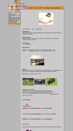 Vorschau der mobilen Webseite www.neue-balance.ch, Neue Balance