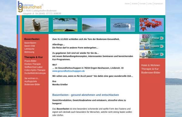 Vorschau von www.basenfasten-bodensee.de, Basenfasten am Bodensee