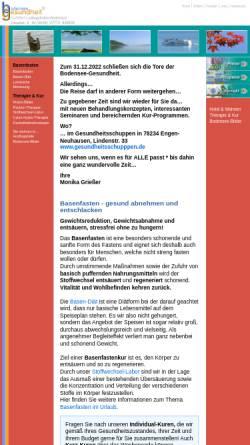 Vorschau der mobilen Webseite www.basenfasten-bodensee.de, Basenfasten am Bodensee