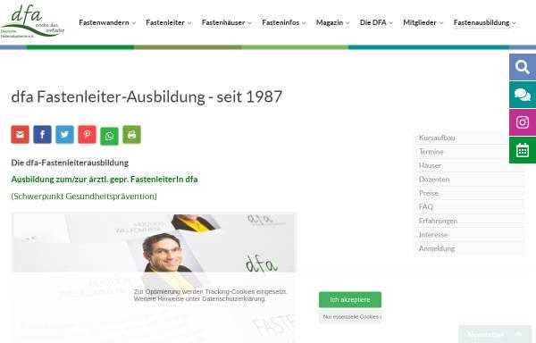 Vorschau von www.fastenakademie.de, Deutsche Fastenakademie e.V.