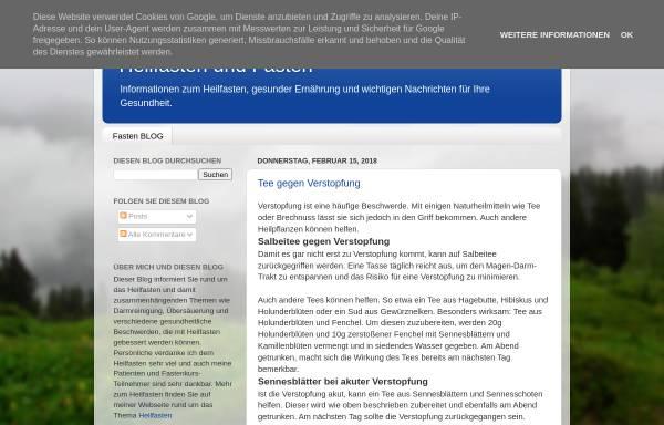 Vorschau von heilfasten-fasten.blogspot.com, Heilfasten-Blog Rene Gräber