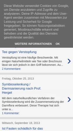 Vorschau der mobilen Webseite heilfasten-fasten.blogspot.com, Heilfasten-Blog Rene Gräber
