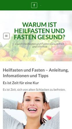 Vorschau der mobilen Webseite www.heilfasten-berater.de, Heilfasten-Berater