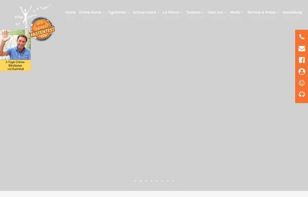 Vorschau von www.typfasten.de, Typgerecht Fastenwandern mit Saftfasten, Früchten oder Suppen - Ralf Moll Fastenseminare