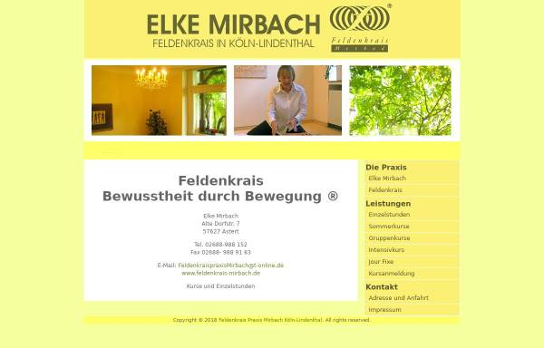 Vorschau von feldenkrais-mirbach.de, Elke Mirbach