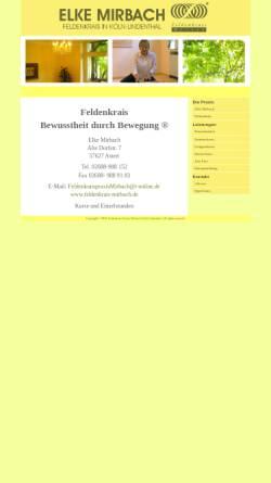 Vorschau der mobilen Webseite feldenkrais-mirbach.de, Elke Mirbach