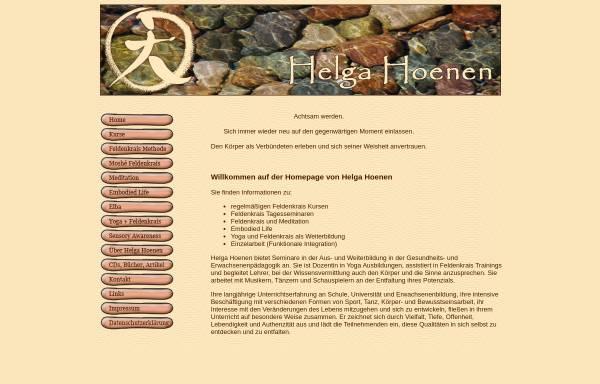 Vorschau von www.feldenkrais-hoenen.de, Helga Hoenen