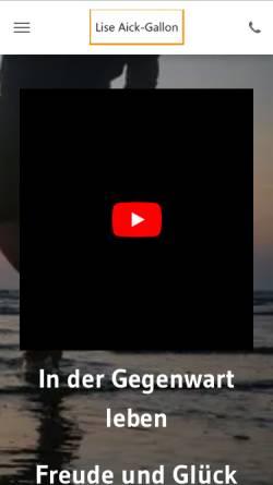 Vorschau der mobilen Webseite www.coaching-feldenkrais.de, Lise Aick-Gallon