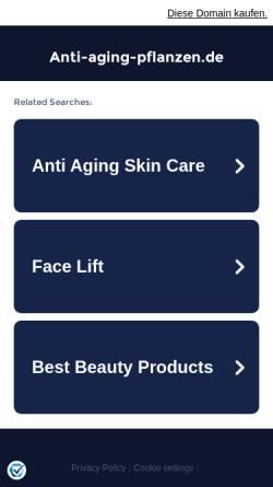 Vorschau der mobilen Webseite www.anti-aging-pflanzen.de, Anti-Aging-Pflanzen