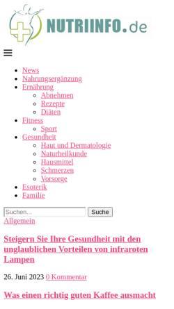 Vorschau der mobilen Webseite www.kraeuterkessel.de, Der Kräuterkessel