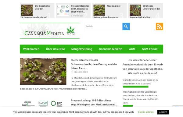 Vorschau von selbsthilfenetzwerk-cannabis-medizin.de, Selbsthilfenetzwerk-Cannabis-Medizin