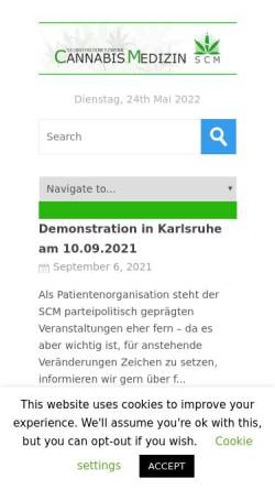 Vorschau der mobilen Webseite selbsthilfenetzwerk-cannabis-medizin.de, Selbsthilfenetzwerk-Cannabis-Medizin