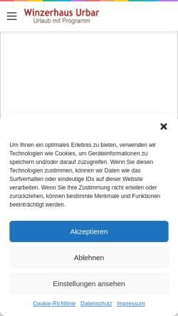 Vorschau der mobilen Webseite www.loreleyreisen.de, Winzerhaus Urbar