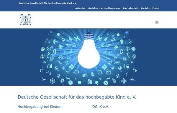 Vorschau von www.dghk.de, Deutsche Gesellschaft für das hochbegabte Kind e.V. (DGhK)