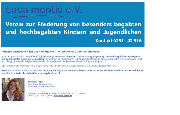 Vorschau von www.esca-mentis.de, Esca Mentis e.V.