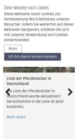 Vorschau der mobilen Webseite www.ig-zugpferde.de, Interessengemeinschaft Zugpferde in Deutschland e.V.