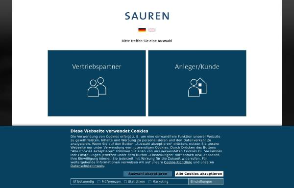 Vorschau von www.sauren.de, Sauren Fonds-Research AG