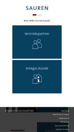 Vorschau der mobilen Webseite www.sauren.de, Sauren Fonds-Research AG