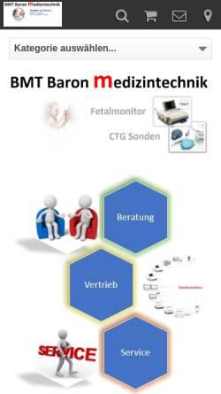 Vorschau der mobilen Webseite www.ctg-shop.de, Baron Medizintechnik, Inh. Bernhard Baron