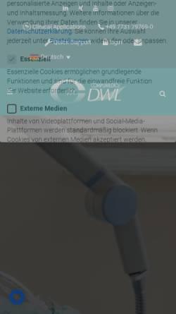 Vorschau der mobilen Webseite www.dwl.de, Compumedics Germany GmbH