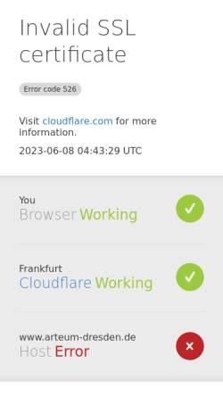 Vorschau der mobilen Webseite www.arteum-dresden.de, Arteum