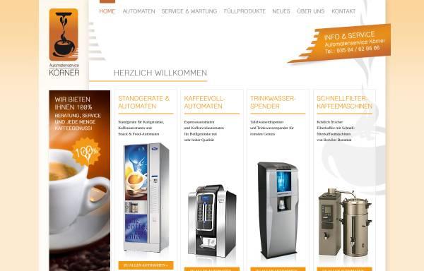 Vorschau von www.automaten-koerner.de, Automatenservice Körner