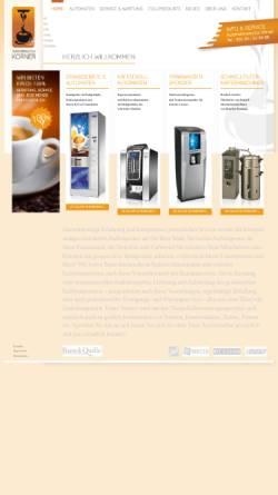 Vorschau der mobilen Webseite www.automaten-koerner.de, Automatenservice Körner